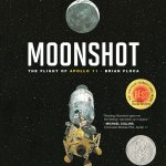 """Moonshot: The Flight of Apollo 11"" is the true story of the Apollo mission. The words fly off the page and the illustrations beautifully depict the race to the moon. The first time we read it, I warned the kids that we didn't have time to read the whole book and would finish it the next night. We were all so entranced that I blew past the half-way point and raced to the end without even realizing it. This book inspires and captivates readers of all ages."