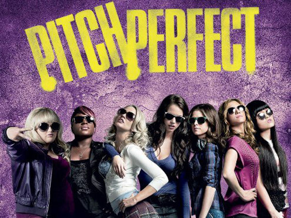 "Pitch Perfect I can't believe it, but I watched Pitch Perfect for the very first time Saturday night. I'm not sure how I missed this movie the first time around, but now I'm obsessed and have already downloaded Pitch Perfect 2 to watch Monday night while Husband, Sister-in-law and Niece are at the Final Four and I'm home with the kiddos. It's just such campy fun. Unfortunately, I did wake up singing ""I saw the sign"" this morning, but it's a small price to pay for such a fun movie."