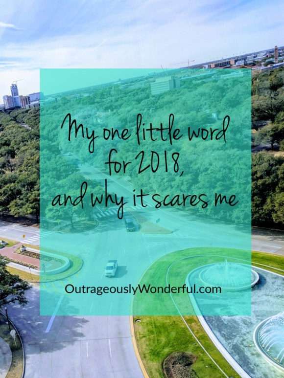 Picking one little word for the year is such a hopeful adventure, setting your intentions for the year, planning, praying, dreaming. This year's word is delightful, but it has me more than a little bit nervous. Read more at OutrageouslyWonderful.com