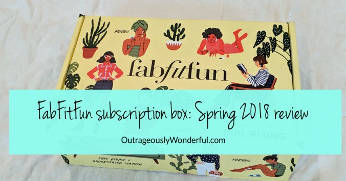 I gave myself a FabFitFun annual subscription last year for my birthday and I've loved getting a new box filled with beauty, fashion, wellness and fitness pics delivered each quarter. While I've absolutely loved each box I've received, the Spring 2018 edition has been my favorite box so far.