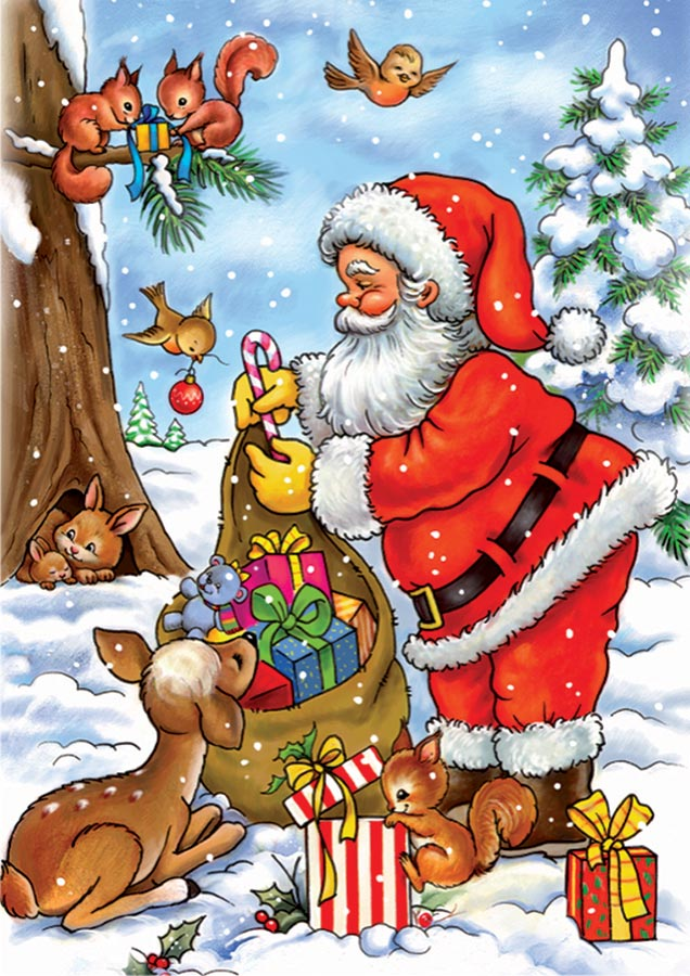 Santa With His Animals Outset Media Games