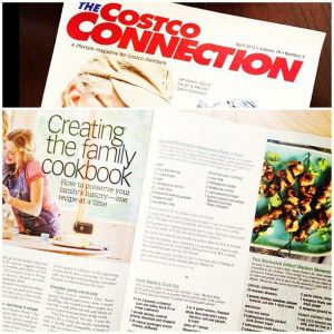 Family Cookbook Article in Costco Connection
