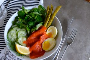 Composed Salad with Smoked Salmon and Cucumber