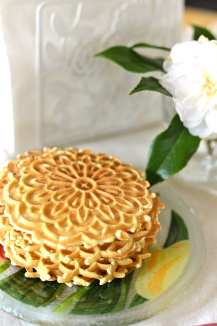 Pizzelles on Spring Plate