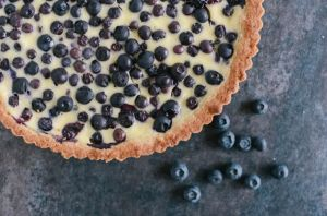 Rye and Blueberry Tart with Berries