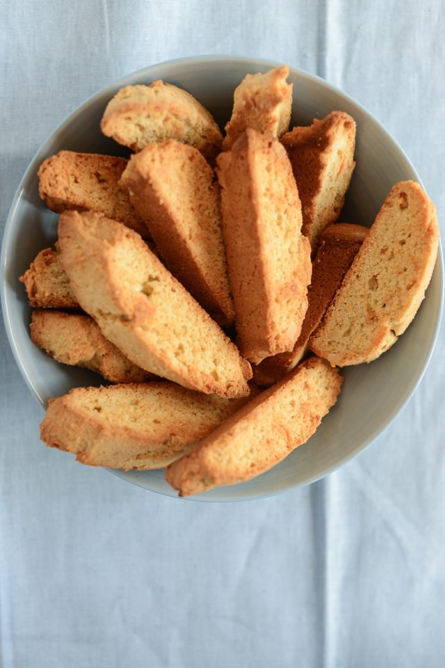 Swedish Almond Rusks in Bowl