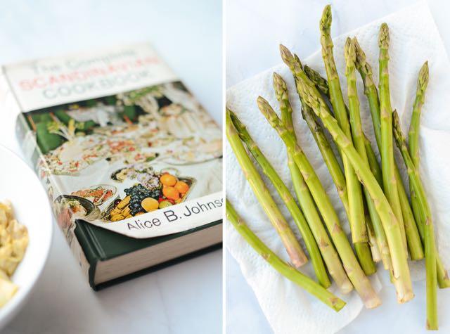 AsparagusAndCookbookDiptych