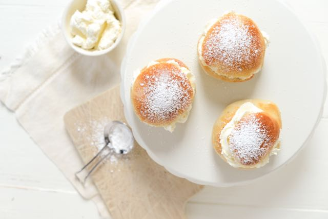 Norwegian Fastelavnsboller Recipe with Cardamom, Almond, and Cream - a Recipe from Norwegian-American Food Writer Daytona Strong of Outside Oslo