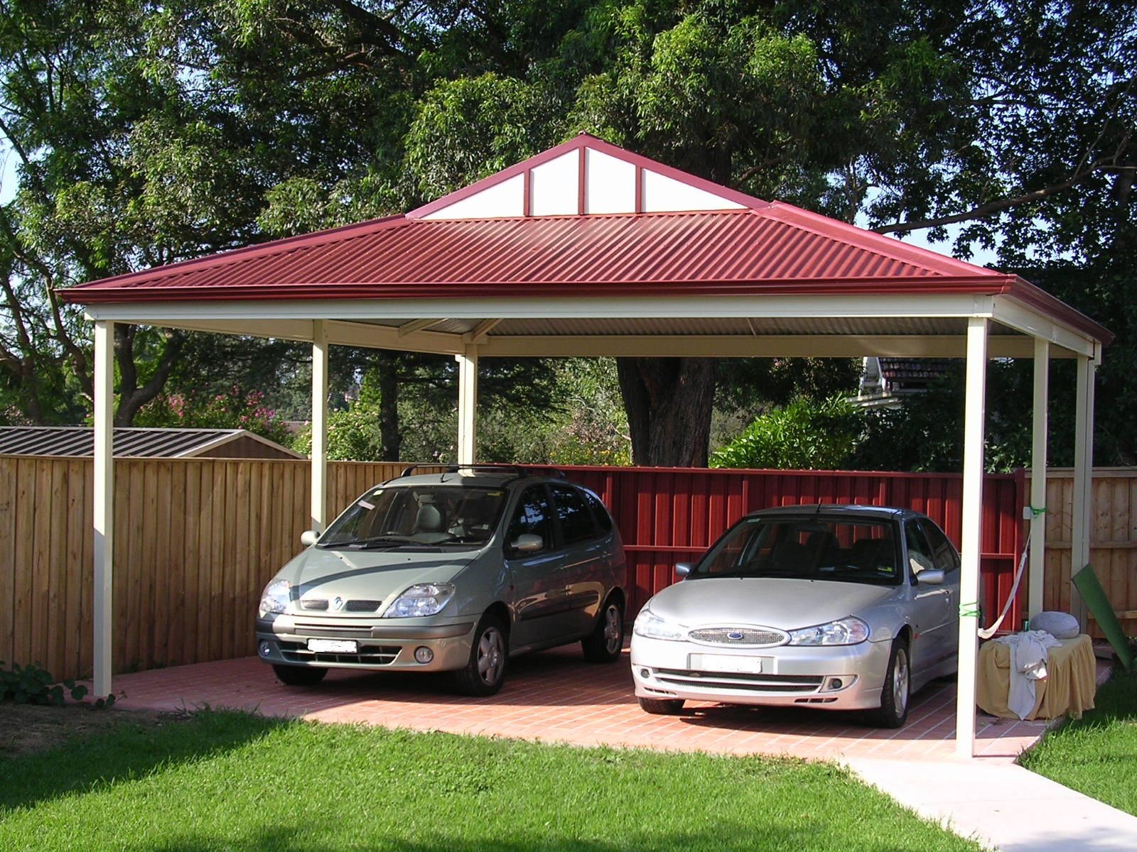 Double carport brisbane outside concepts for Gable roof carport