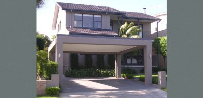A rendered Brisbane carport is a stylish, modern look.
