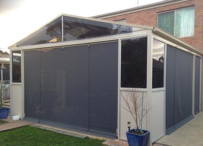 Well installed outdoor blinds, such as these installed by Outside Concepts, are one sure fire way of keeping pests out of your Melbourne patio.