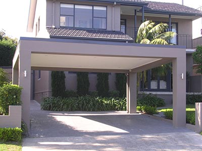 A rendered Brisbane carport will provide the much sought after and trending modern look.