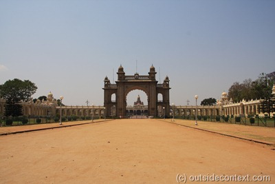 Mysore Palace from the road passing