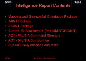 ISI Briefing Information Cover Sheet