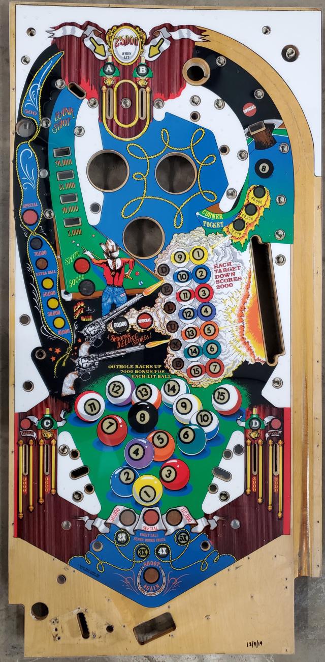 Pinball Playfield Hardtop