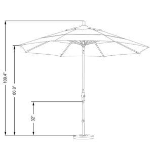 double vented patio umbrella reviews