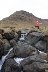 Brenda At The Waterfall On The Tablelands Trail