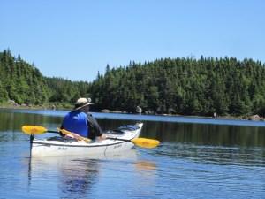David Kayaking Near Twillingate