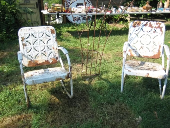 Refinishing Metal Furniture   Outsiders Within     Patio Furniture  Refinishing Metal Furniture  There