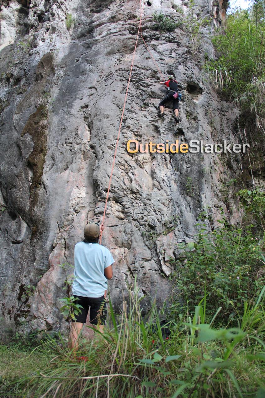 Rock climber in Sagada