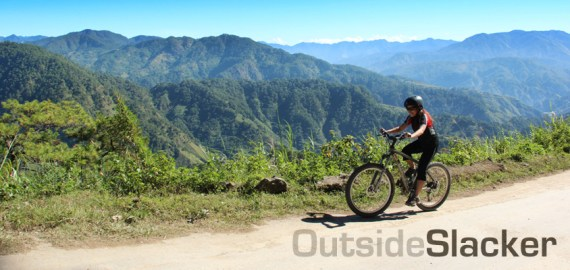 mountain biker in sagada