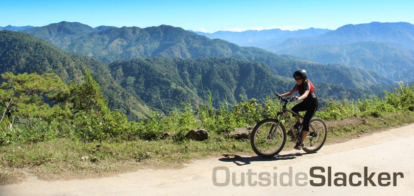 mountain biker in sagada