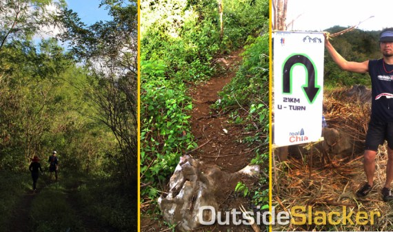 Nature's Trail Discovery Run trail up to the peak