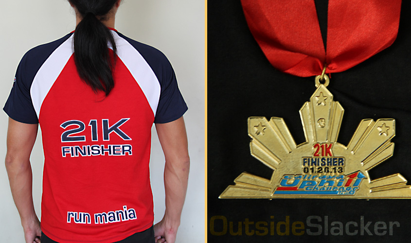 Caliraya uphill run finisher shirt and medal