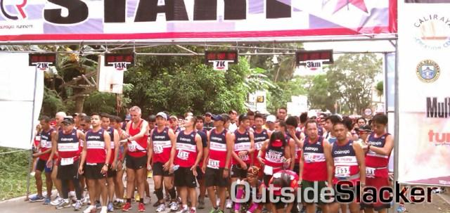 Starting line for the Caliraya Uphill Challenge Level 2 2013