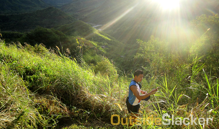 A trail runner in the Sierra Madre mountains during the Love a Tree Ultramarathon