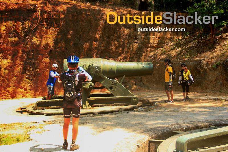Biking in Corregidor and seeing the big guns