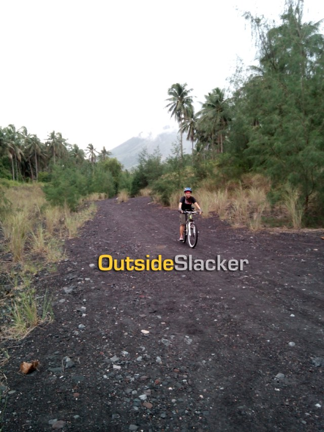 Going downhill fast on Mayon's Lava trail