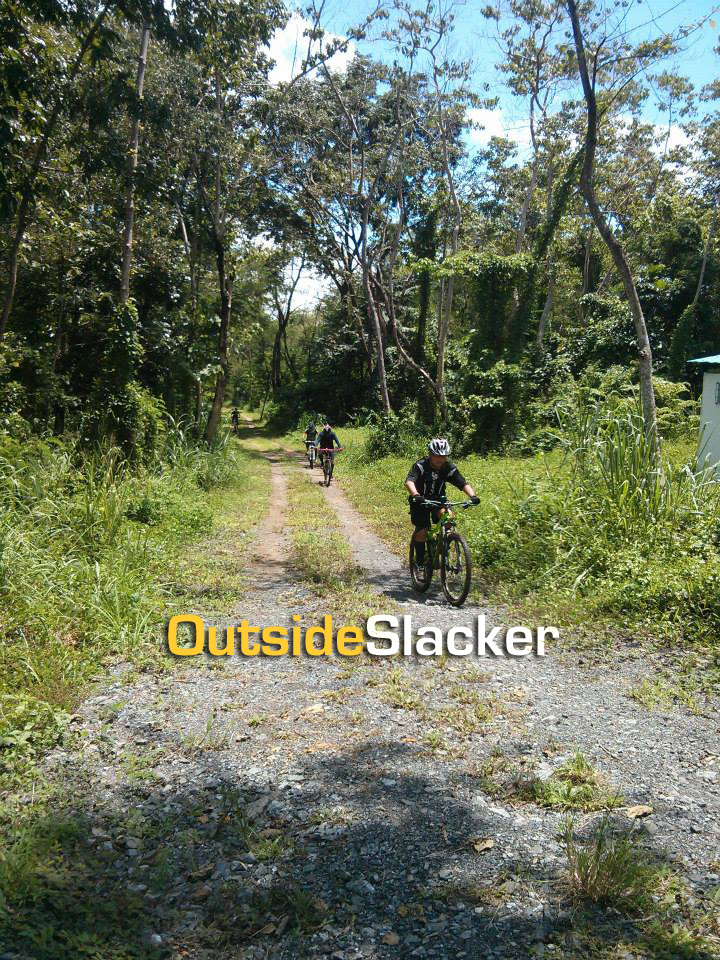 Bikers take the fire road going back to the parking lot of the La Mesa Nature Reserve