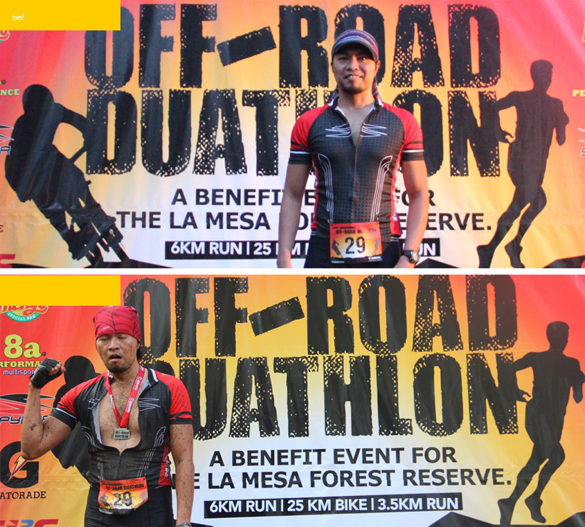 La Mesa Duathlon, Before and After
