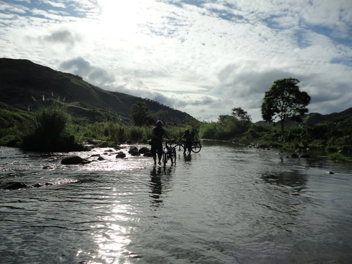 River Crossing in Sta. Ines tanay