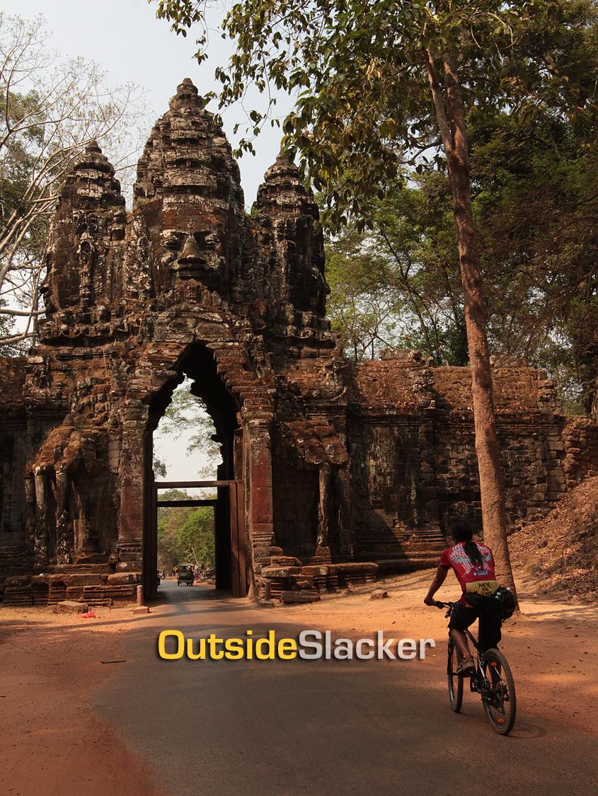 Biking in Angkor Thom, Siem Reap, Cambodia