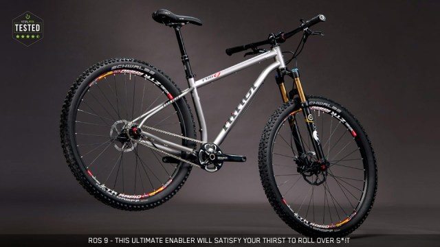 A beautiful steel all-mountain bike