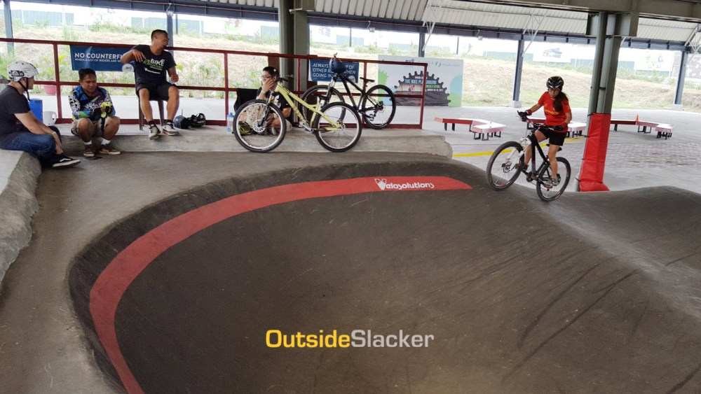 Pump track at The Bike Playground