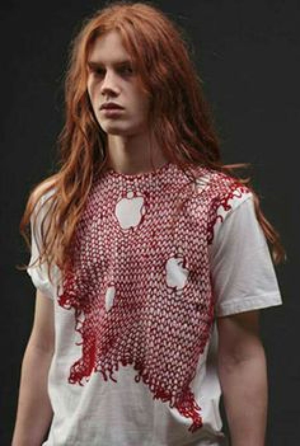 Long red mens hair