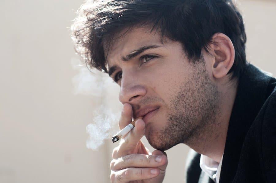 smoking guy - hair loss