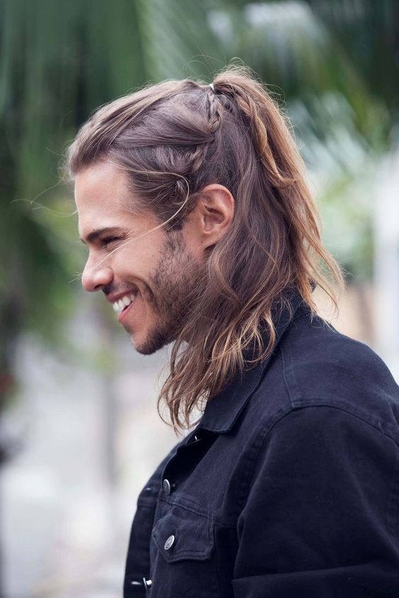 Long Hair with High Pony Tail