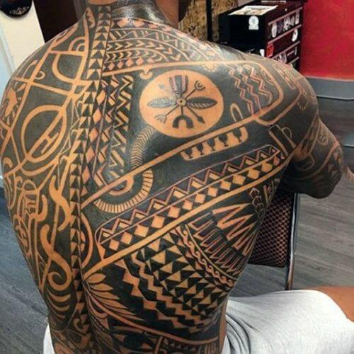 Polynesian Back Tattoo