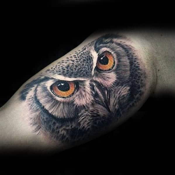 Cool 3D Owl Tattoo