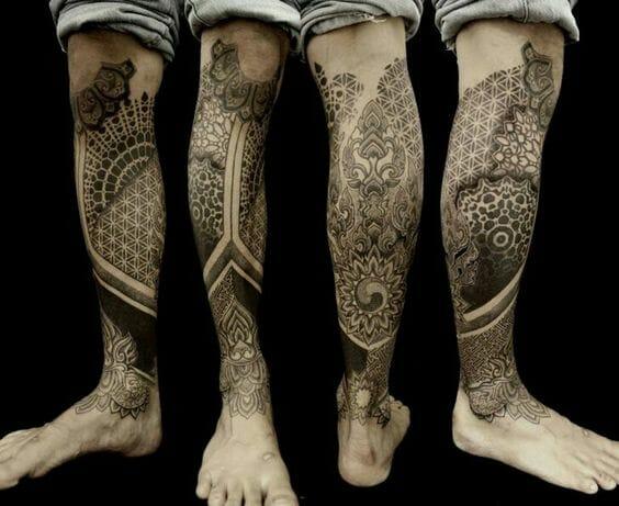 Traditional Polynesian Tribal Leg Design