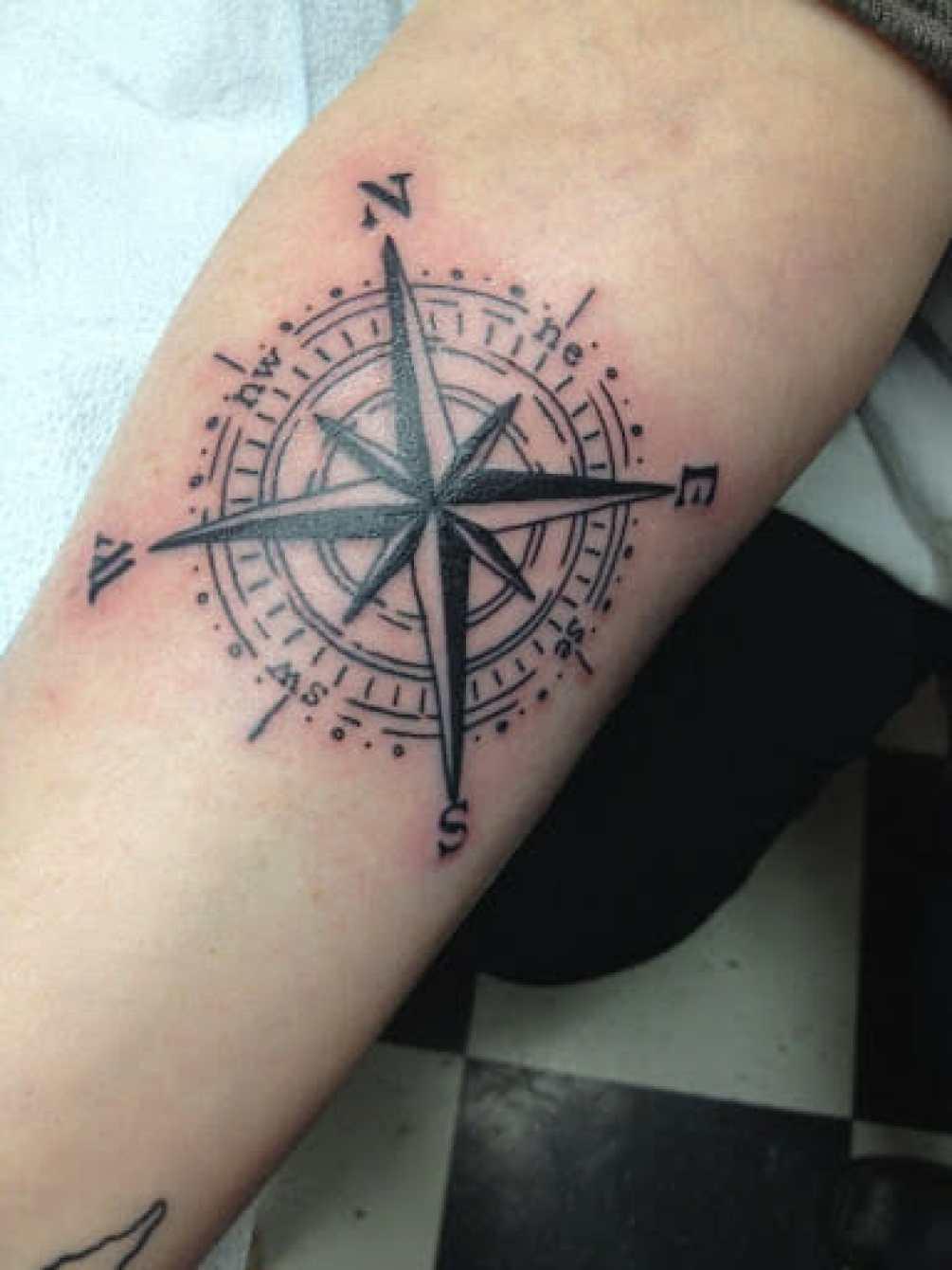 great compass tattoo