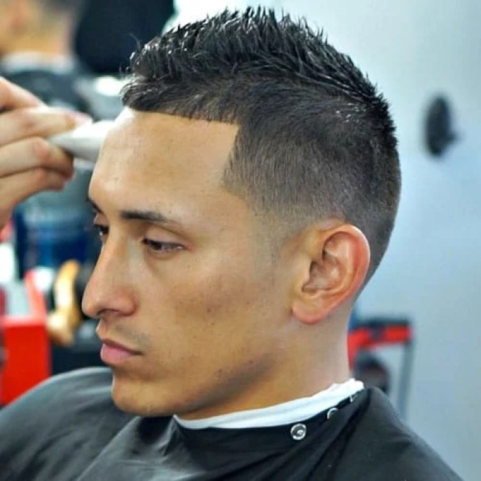 Man With Low Fade & Faux Hawk