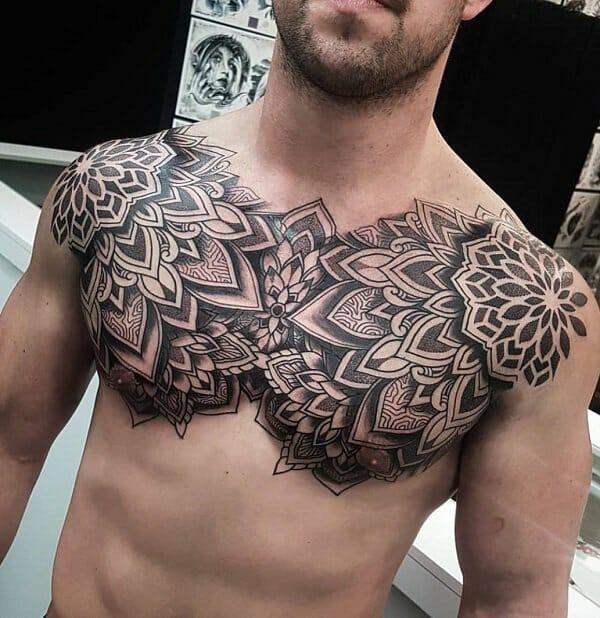 Mandala Chest Tattoo