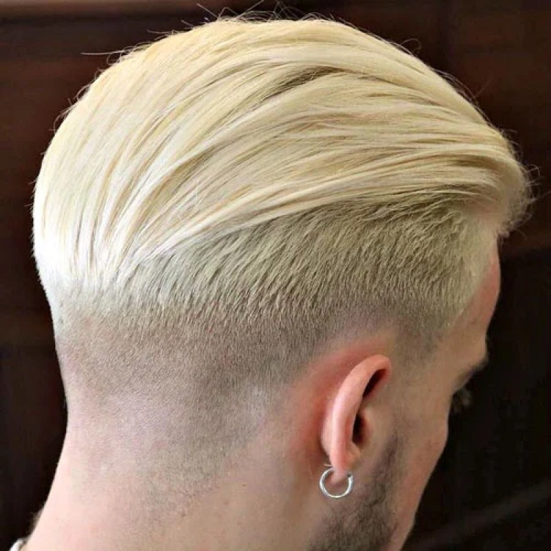 Man With Blonde Taper Fade