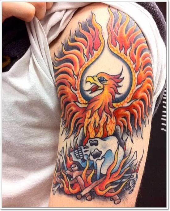Cool Phoenix Arm Tattoo