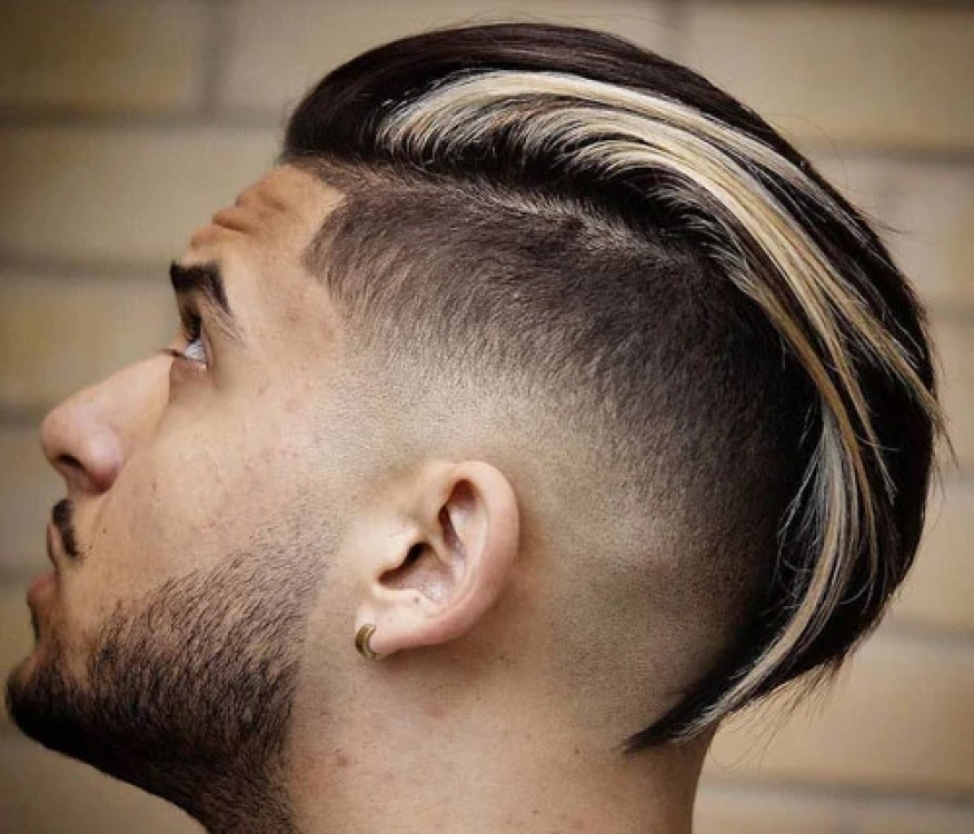 Slicked Back Undercut with Long Hair